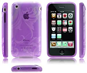 Silikon HülleGel Case Cover Tasche für das Apple iPhone 3G/3GS inkl Folie Flavia Purple
