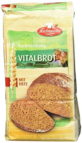 Bielmeier-Küchenmeister Brotbackmischung Vital-Brot, 15er Pack (15 x 500g) (Vorteile Von Leinsamen)