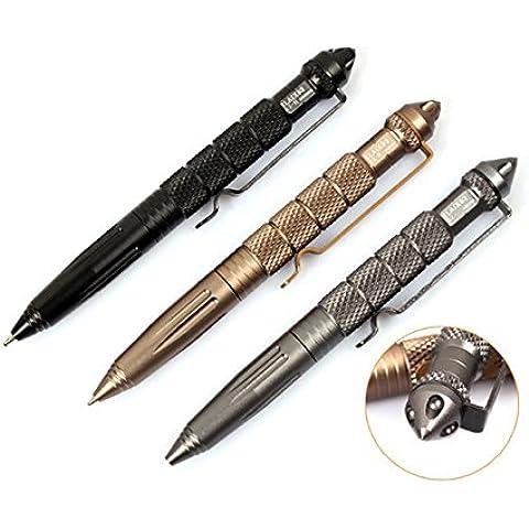 Tactical pen autodifesa penna alluminio aerospaziale lega sopravvivenza all'aperto strumento emergenza - oro