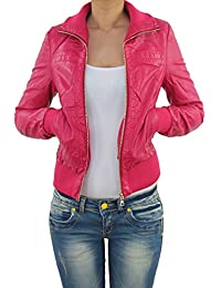 beste Schuhe Tiefstpreis zu verkaufen Suchergebnis auf Amazon.de für: lederjacke pink - Damen ...