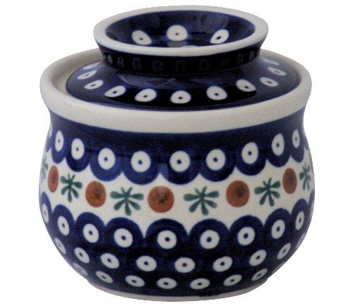 Bunzlauer Keramik Beurrier avec refroidissement par eau en céramique de Boleslawiec Motif 41