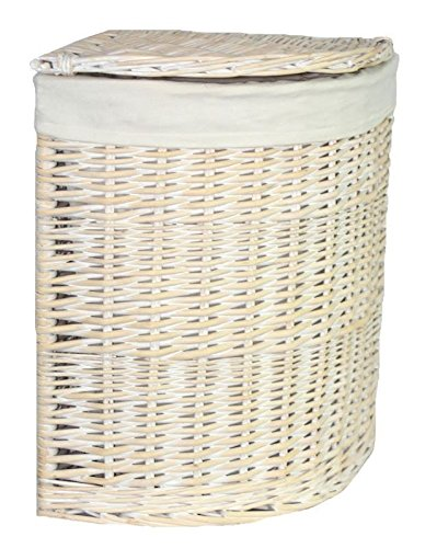 Red hamper piccolo angolo lavata bianca portabiancheria con un rivestimento bianco