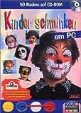 Kinder schminken am PC, 1 CD-ROM m. 4 Profi-Schminkfarben, Pinsel und Schwämmchen 50 Masken auf CD-ROM. Für Windows 95/98/Me. Auch zum Ausprobieren u. Ausdrucken auf gescanntem Foto