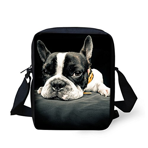 Coloranimal , Damen Satchel-Tasche boston terrier