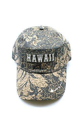 Mapa-de-Hawaii-bordado-floral-Hibiscus-ajustable-Gorra-sombrero-en-Caqui-Camuflaje