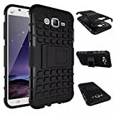 Rugged Dual Armour Kickstand back cover for Samsung Galaxy J5 color Black