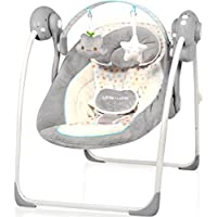 Babyschaukel (vollautomatisch 230V) mit 8 Melodien und 5 Schaukelgeschwindigkeiten