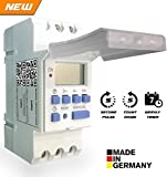 #3: Euro Din Type Digital Timer Controller- Made in Germany-Programmable for Daily/Weekly- DIN Rail Mounting