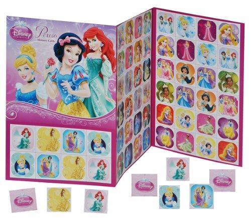 Gedächtnis Spiel - Disney Prinzessinnen Schneewittchen Cinderella Arielle Belle - zum Ausschneiden - für Mädchen Bastelset Memo Spiel Gedächtnisspiele Kinder / Kartenspiel Karten - Memo (Prinzessin Disney Training)