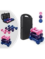 Leogreen - Set d'haltères en vinyle - Idéal pour les débutants ou les amateurs de fitness - Résistant aux rayures et aux chocs - Offre une boîte platic noir