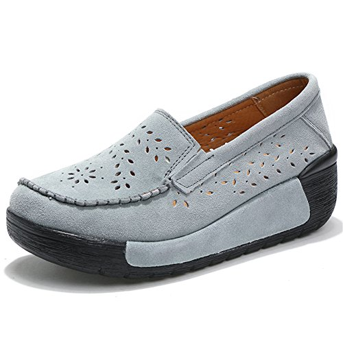 HKR Mocassins Pour Femme 588-2 Grey Hollow
