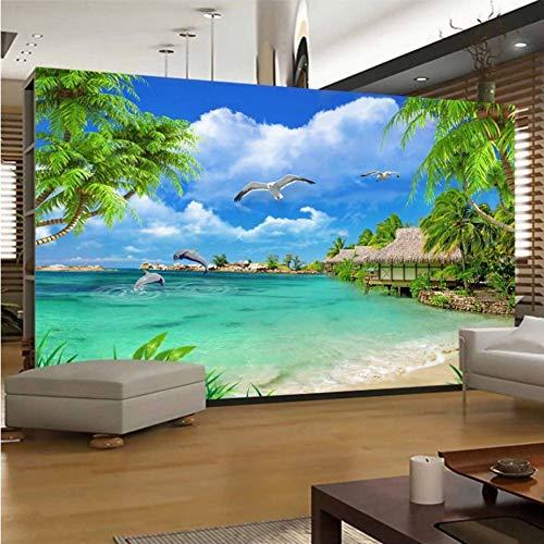 Vista Hirsch (Papel pintado personalizado 3D Foto Spiel Vista Mar pacifico pasaje pedura pintura sala de estar TV TV Wandbild mit Papel Dekor-(W)320x(H)220cm)