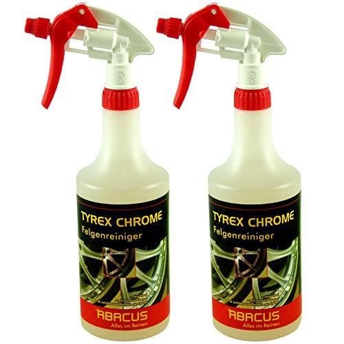 ABACUS TYREX Chrome 2X 750 ml Felgenreiniger (7227) - Felgenreiniger für Chromfelgen mit Farbindikator