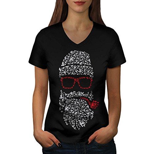 Cool Weihnachten Damen S V-Ausschnitt T-shirt | Wellcoda (Coole Halloween-kuchen-ideen)