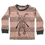 Small Rags Mädchen Langarm Baby- und Kindershirt, 100% Baumwolle, Rosé-Grau, Gr. 80, Real LS Top Misty Rose 60080 02-48