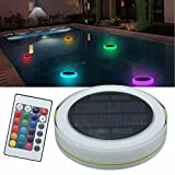 HITSAN Solar Power RGB Under Water LED Garden Pond Swimming Pool Floating Light