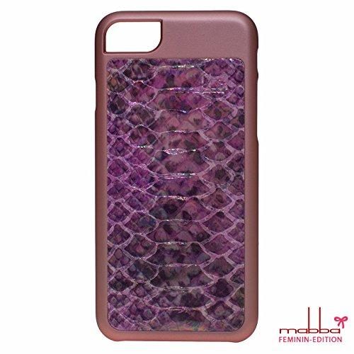 mabba® iPhone Case Hülle für das iPhone 7 und iPhone 7 Plus aus Leder - Der Regenbogenfisch - Handmade (iPhone 7, rose) rose