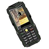 Sharplace VKworld Stone V3 2.4 '' Telefono Antiurto Impermeabile IP68 Cellulare 3000mAh FM, Big Box, Fotocamera 2 MP, LED Luce Flash, Funzione Torcia - Verde