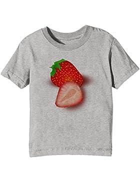 Fresa Niños Unisexo Niño Niña Camiseta Cuello Redondo Gris Manga Corta Todos Los Tamaños Kids Unisex Boys Girls...