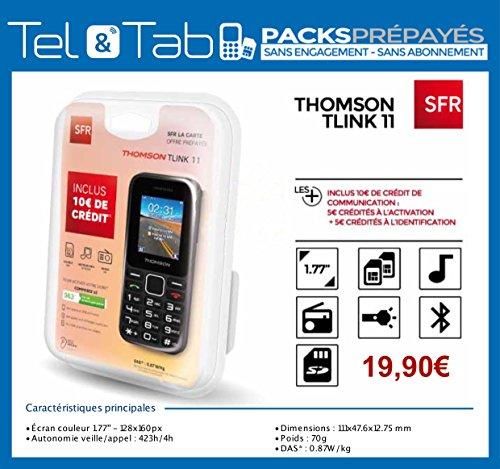 PACK LIBRE SERVICE SFR THOMSON DUAL SIM NOIR (inclus 10 € de Crédit)