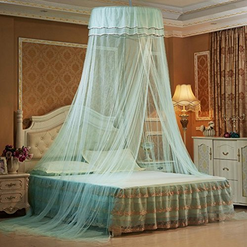 Starter Princesse Bed Valance, Suspendus Dentelle Canopy Lit Filet Moustiquaire Dome Comfy Moustiquaire pour Enfant Étudiant Lit Queen Lits Jumeaux