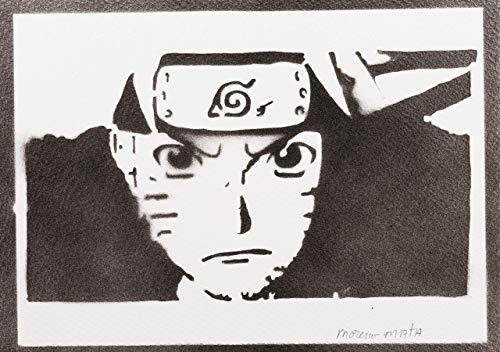 Naruto Poster Plakat Handmade Graffiti Street Art - Artwork (Moderne Ninja Kostüm)