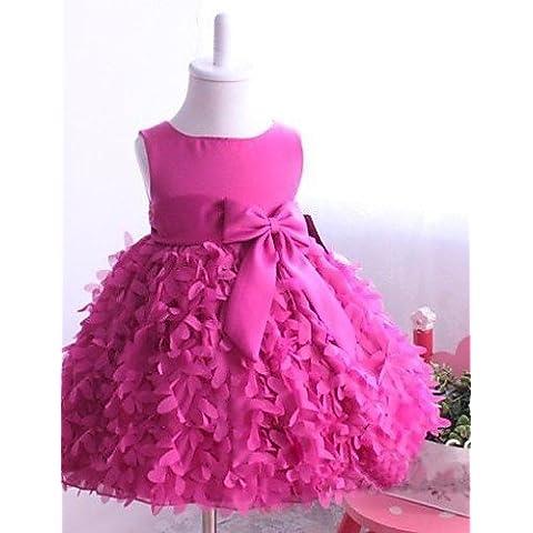 ZY/ Palloncino/Stile Principessa - Decorato - Cocktail - Flower Girl Dress ( Raso/Tulle ) , lightblue , child-6