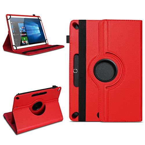 Tablet Tasche für 10 - 10.1 Zoll Hülle Schutzhülle Case Cover 360° Drehbar Neu, Farben:Rot, Modell:Acepad A96