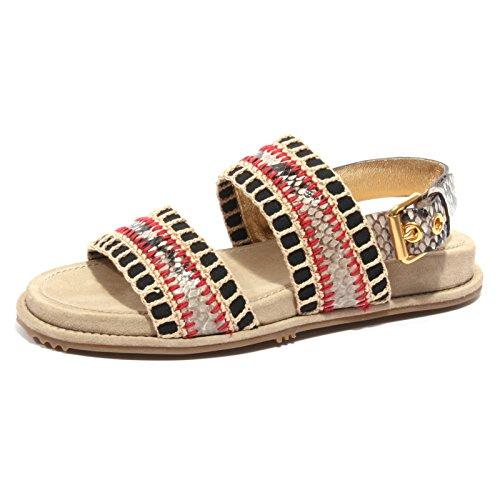 B2406 sandalo donna CAR SHOE scarpa stampa pitone grigio shoe flip flop woman [36.5]