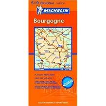 Carte routière : Bourgogne