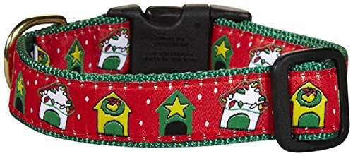 (Up Country Weihnachten Doghouse Hundehalsband, Large, Christmas Dog House)