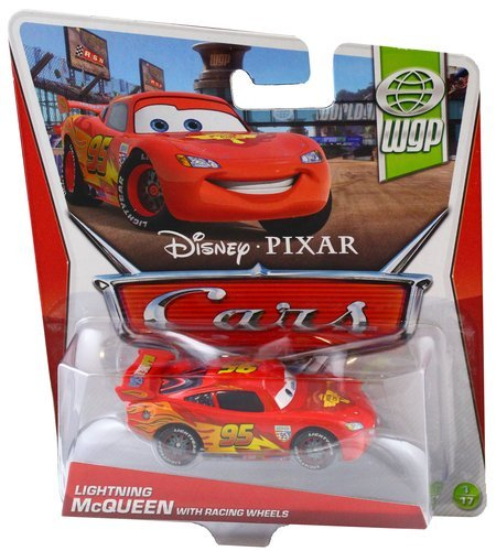 Disney Cars Y0472 Lightning McQueen with Racing Wheels Collection World Grand Pix