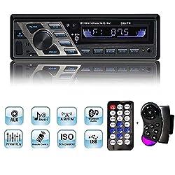 Autoradio, Yosaso 4 * 80w Auto Stereo Audio Mp3 Player 7 Farben Lcd-bildschirm Usbsd Auxbluetooth Fm 87,5-108 Mhz Mit 2 Fernbedienungen