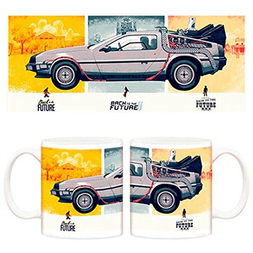 Taza Regreso al futuro Trilogía Pósters DeLorean