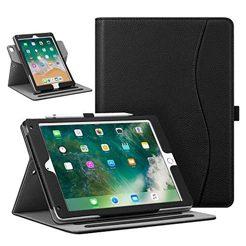 Fintie Hülle kompatibel mit iPad 9.7 Zoll 2018 2017 / iPad Air 2 (2014) / iPad Air (2013) - 360 Grad verstellbare Schutzhülle, unterschiedliche Betrachtungswinkel mit Auto Sleep/Wake, Schwarz -