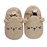 Ularmo Schuhe für 0-12 Monate Baby, Indoor Weicher Boden Rutschfester Hundeschuhe (11*5cm)