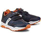 Geox J845DA Coridan Modischer Jungen Halbschuh, Sneaker, Klettverschluss, Doppelkletter, atmungsaktiv blau (BLAU), EU 28