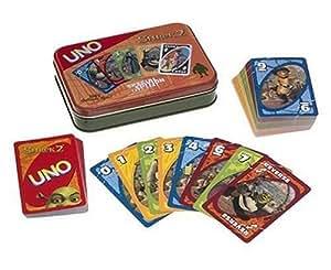 Jeu de cartes UNO Shrek l'ogre dans boîte métal édition spéciale collector en Anglais