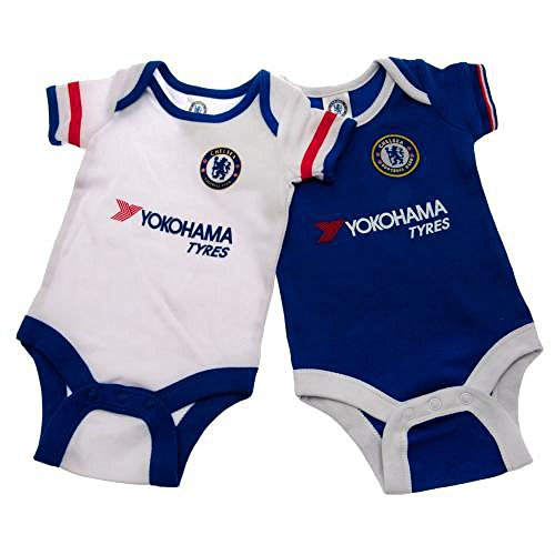 Official Chelsea FC Baby Bodysuit (6-9 Months) (2 Pack)