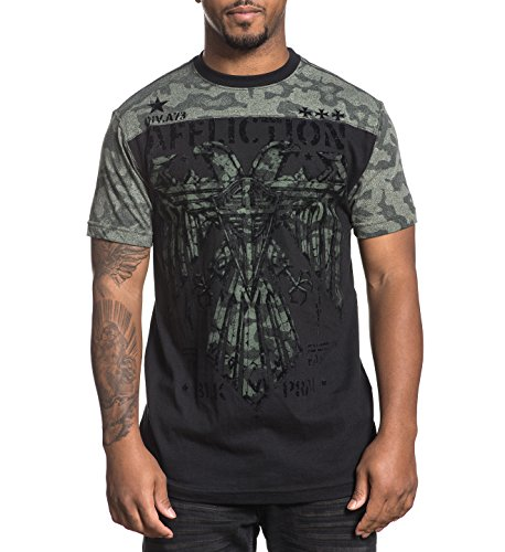 Affliction T-Shirt Silent Eagle Schwarz, S (Silent Eagle)