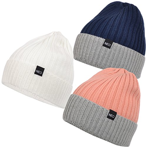 adidas Neo Womens Knitted Two Tone Beanie - One Size