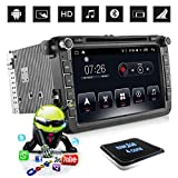 """D-NOBLE Autoradio Sistema Stereo GPS Car DVD Player 8"""" HD Touch Screen Bluetooth Android 6.0 64Bit Quadcore 1GB/16GB Auto Navigazione Sistemi Lettori Audio MP3 Car Entertainment Multimedia with AM/FM/RDS AUX WiFi Mirror Link 1080P for Volkswagen VW Golf Polo Touran PASSAT Beetle"""