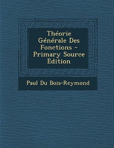 Theorie Generale Des