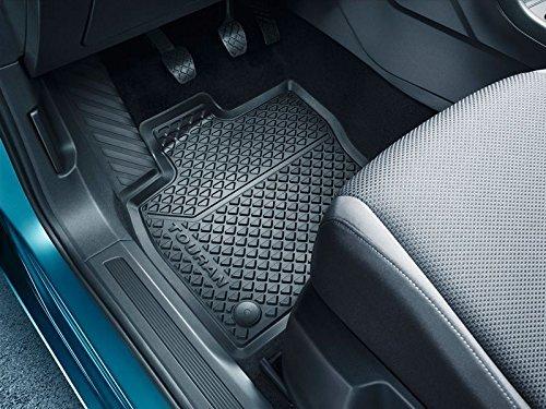 Original Gummifußmatten VW Touran II (ab 2015) Allwettermatten Titanschwarz 4-teilig vorn und hinten