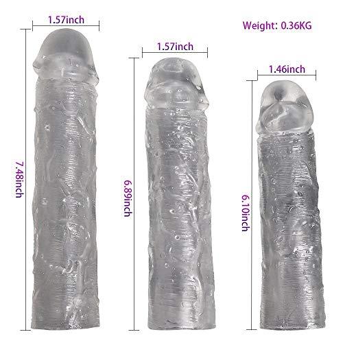 SDjjyp Sleeve Fall-Abdeckung Extender, Erweiterung Paar Vergrößerer Sleeve Mantel -Enhancing Vergrößerer for Männer (3 Stück)
