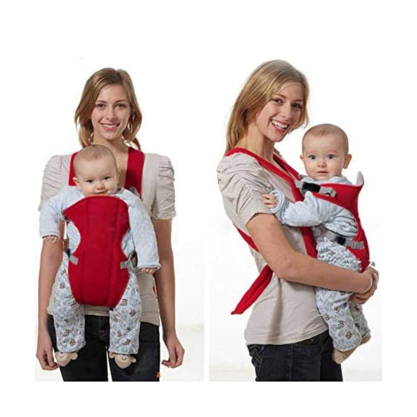 Kasstino Infant Front Facing Slings Breathable Pouch Wraps Carriers Backpacks Suspenders (Red) Kasstino A great way to carrying baby, keep kids close and safe at hands, in crowds, or during family outings Double layer at the bottom of the pad design more take care of the baby small buns Portable, breathable, folding, really practical. Easy to put on and take off 2