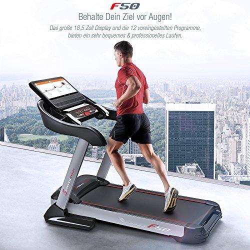 Sportstech F38 Profi Laufband mit patentiertem Dämpfungssystem klappbar Abbildung 2