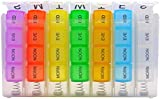 PuTwo Removable and Portable Case Organiser with Pill Box Mediplanner contains 28 Compartments