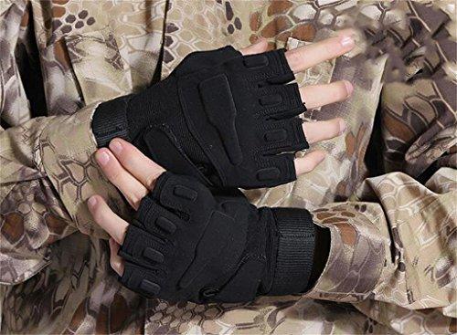 I fan MLveen esterno dell'esercito guanti mezze dita maschili Blackhawk guanti tattici alpinismo sezione sottile