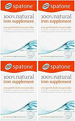 (4 PACK) - Spatone - 100% Natural Iron Supplement | 14 sachet | 4 PACK BUNDLE from SPATONE IRON PLUS